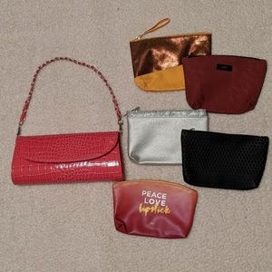 Bundle Sale!! Purse & make-up pouches LIKE NEW!!